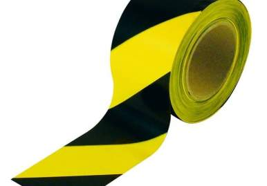 Лента оградительная желто-черная